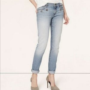 LOFT- Light Wash Relaxed Skinny Jeans
